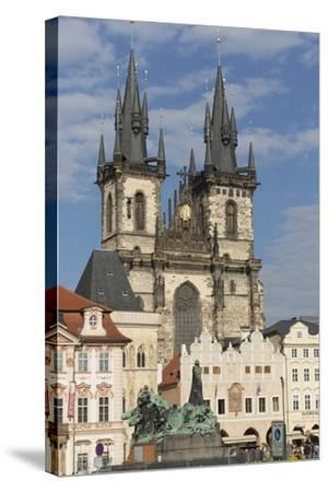 Old Town Square (Staromestske Namesti) and Tyn Cathedral (Church of Our Lady before Tyn)-Angelo-Stretched Canvas Print