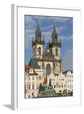 Old Town Square (Staromestske Namesti) and Tyn Cathedral (Church of Our Lady before Tyn)-Angelo-Framed Photographic Print
