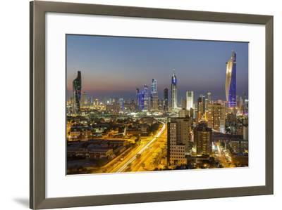 Elevated View of the Modern City Skyline and Central Business District-Gavin-Framed Photographic Print