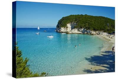 Vrika Beach, Antipaxos, Antipaxi, Ionian Islands, Greek Islands, Greece, Europe-Tuul-Stretched Canvas Print