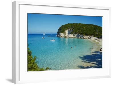 Vrika Beach, Antipaxos, Antipaxi, Ionian Islands, Greek Islands, Greece, Europe-Tuul-Framed Photographic Print