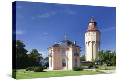 Water Tower and Pagodenburg Pavillon, Rastatt, Black Forest, Baden Wurttemberg, Germany, Europe-Markus Lange-Stretched Canvas Print