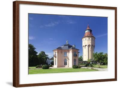 Water Tower and Pagodenburg Pavillon, Rastatt, Black Forest, Baden Wurttemberg, Germany, Europe-Markus Lange-Framed Photographic Print