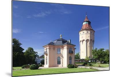 Water Tower and Pagodenburg Pavillon, Rastatt, Black Forest, Baden Wurttemberg, Germany, Europe-Markus Lange-Mounted Photographic Print