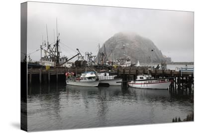 Morro Rock in Fog-Stuart-Stretched Canvas Print
