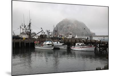 Morro Rock in Fog-Stuart-Mounted Photographic Print