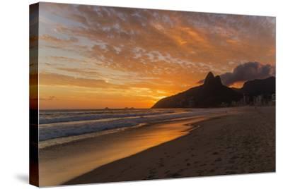 Ipanema Beach at Sunset, Rio De Janeiro, Brazil, South America-Angelo-Stretched Canvas Print