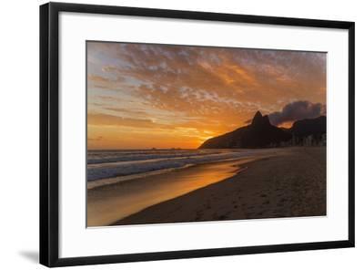 Ipanema Beach at Sunset, Rio De Janeiro, Brazil, South America-Angelo-Framed Photographic Print
