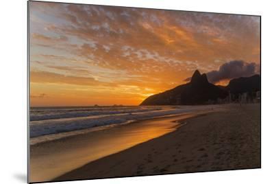 Ipanema Beach at Sunset, Rio De Janeiro, Brazil, South America-Angelo-Mounted Photographic Print