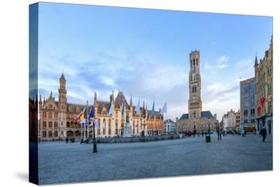 Market Square and the Belfry-G&M-Stretched Canvas Print