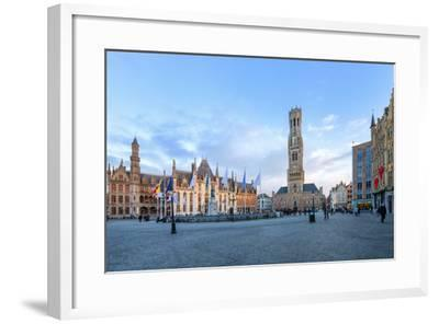 Market Square and the Belfry-G&M-Framed Photographic Print