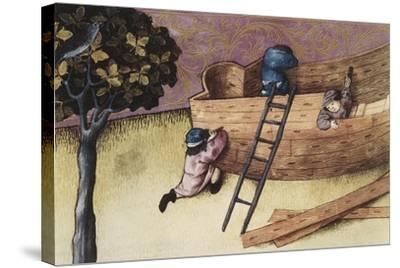 Illustration About the Teak Tree--Stretched Canvas Print