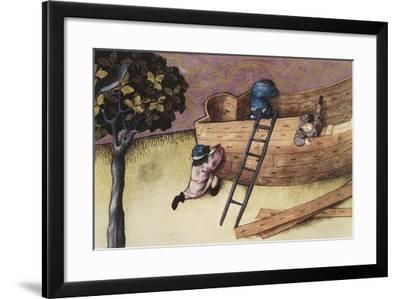 Illustration About the Teak Tree--Framed Art Print