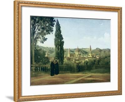 View of Florence from the Boboli Gardens-Jean-Baptiste-Camille Corot-Framed Art Print