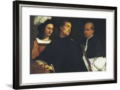 Interrupted Concert-Titian (Tiziano Vecelli)-Framed Art Print