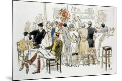 Bars and Cabarets of Paris-Georges Goursat Sem-Mounted Art Print
