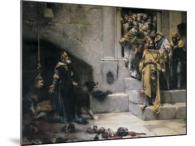 King Ramiro II Ordering Beheading of Disobedient Nobles-Jose Casado Del Alisal-Mounted Art Print