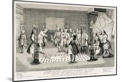 Freemasonry Assembly to Receive the Masters--Mounted Art Print