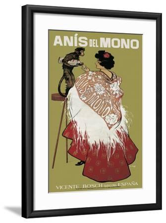 Anis Del Mono-Ramon Casas i Carbo-Framed Art Print