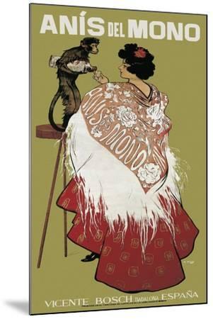 Anis Del Mono-Ramon Casas i Carbo-Mounted Art Print