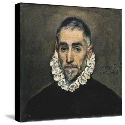Portrait of an Unknown Gentleman-El Greco-Stretched Canvas Print