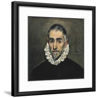 Portrait of an Unknown Gentleman-El Greco-Framed Art Print