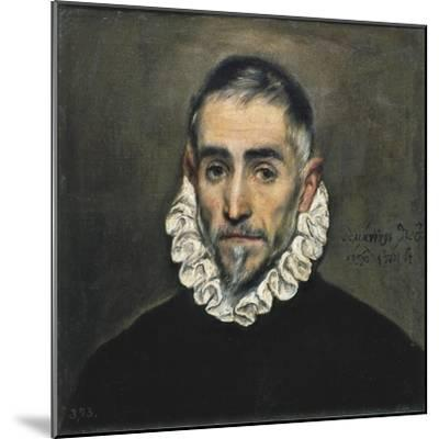 Portrait of an Unknown Gentleman-El Greco-Mounted Art Print