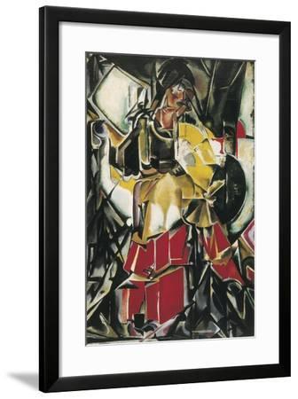 Woman with a Fan-Maria Gutierrez-Cueto Blanchard-Framed Art Print