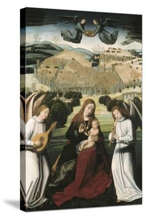 The Virgin of Granada-Petrus Christus-Stretched Canvas Print