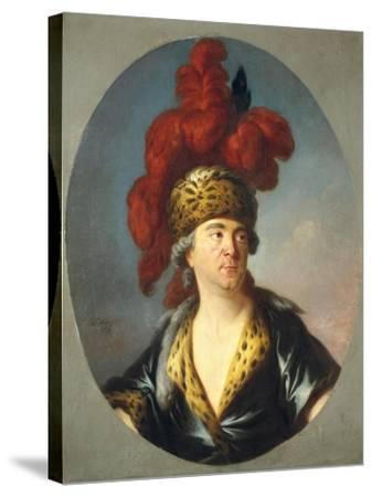 Lekain in Role of Genghis Khan in 'Orphelin De La Chine-Simon Bernard Lenoir-Stretched Canvas Print