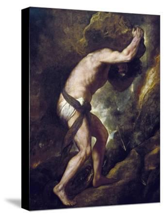 Sisyphus-Titian (Tiziano Vecelli)-Stretched Canvas Print