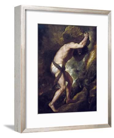 Sisyphus-Titian (Tiziano Vecelli)-Framed Art Print