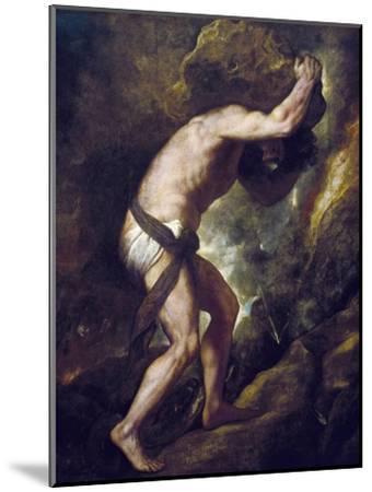 Sisyphus-Titian (Tiziano Vecelli)-Mounted Art Print