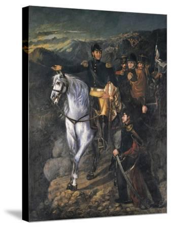 General San Martin after Crossing the Andes-Martin Boneo-Stretched Canvas Print