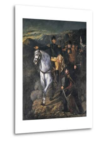 General San Martin after Crossing the Andes-Martin Boneo-Metal Print