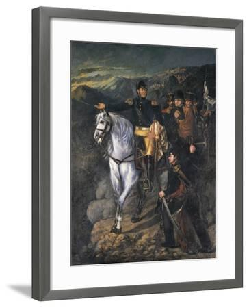 General San Martin after Crossing the Andes-Martin Boneo-Framed Art Print