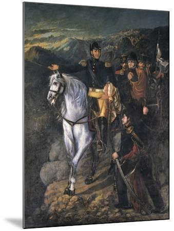 General San Martin after Crossing the Andes-Martin Boneo-Mounted Art Print