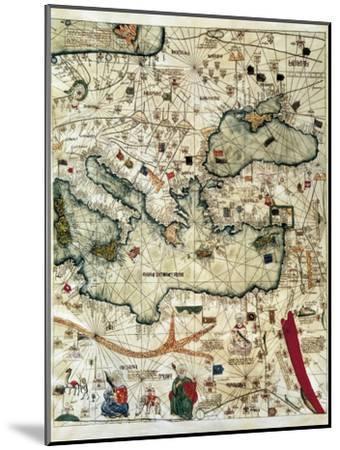 Catalan Atlas-Jafuda and Abraham Cresques-Mounted Art Print