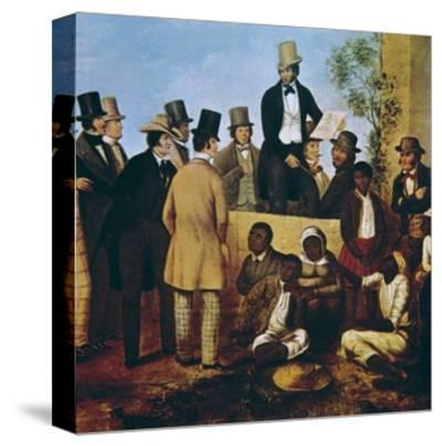 American Slave Market, 1852--Stretched Canvas Print