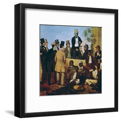 American Slave Market, 1852--Framed Art Print