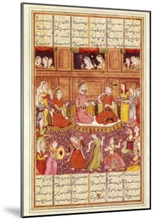 Zal Meets Mihrab of Kabul--Mounted Art Print