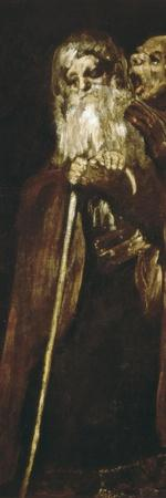 Two Monks-Francisco de Goya-Stretched Canvas Print