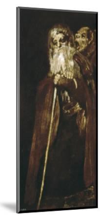 Two Monks-Francisco de Goya-Mounted Art Print