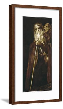 Two Monks-Francisco de Goya-Framed Art Print