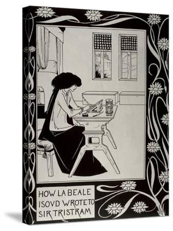 Iseult Writing to Tristan-Aubrey Vincent Beardsley-Stretched Canvas Print