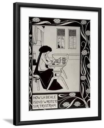 Iseult Writing to Tristan-Aubrey Vincent Beardsley-Framed Art Print