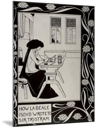 Iseult Writing to Tristan-Aubrey Vincent Beardsley-Mounted Art Print