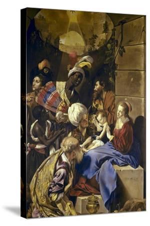 Adoration of the Magi-Juan Bautista Maino-Stretched Canvas Print