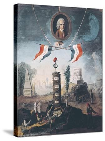 Allegory of the Revolution-Nicolas Henri Jeaurat de Bertry-Stretched Canvas Print