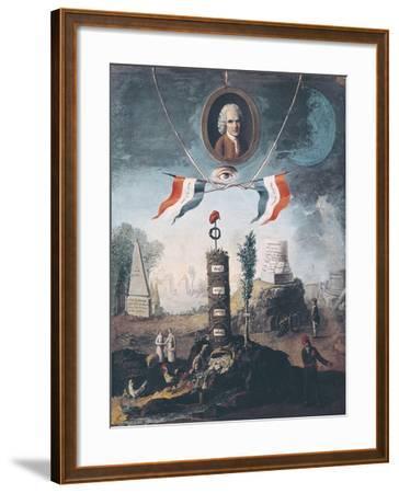 Allegory of the Revolution-Nicolas Henri Jeaurat de Bertry-Framed Art Print
